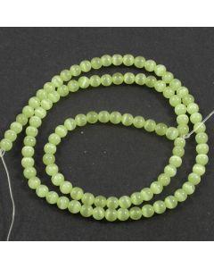 Cats Eye Beads - 4mm Light Green