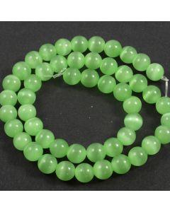 Cats Eye Beads - 7.5mm Green
