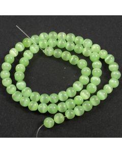 Cats Eye Beads - 5.5mm Spring Green
