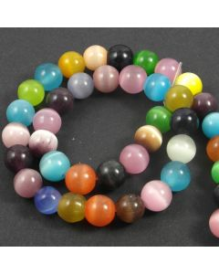 Cats Eye Beads - 9.5mm Mixed Colour