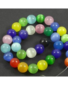Cats Eye Beads - 11.5mm Mixed Colour