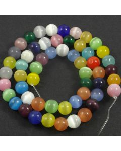 Cats Eye Beads - 7.5mm Mixed Colour