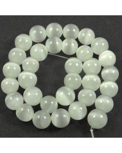 Cats Eye Beads - 11.5mm Moonstone White