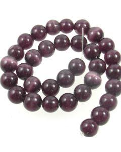 Cats Eye Beads - 11.5mm Deep Purple