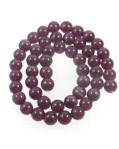 Cats Eye Beads - 7.5mm Deep Purple