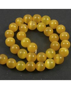 Cats Eye Beads - 11.5mm Amber Yellow