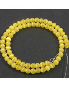 Cats Eye Beads - 5.5mm Yellow