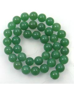 Malay Jade (Dyed Celadon Green Quartzite) 10mm Round Beads
