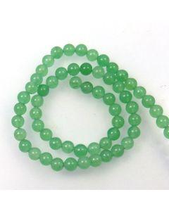 Malay Jade (Dyed Celadon Green Quartzite) 6.5mm Round Beads