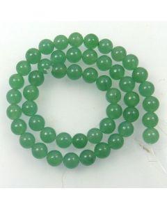 Malay Jade (Dyed Celadon Green Quartzite) 8mm Round Beads