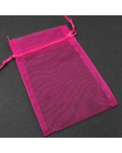 Organza Bags - Medium Plain Cerise (Pack of Ten)