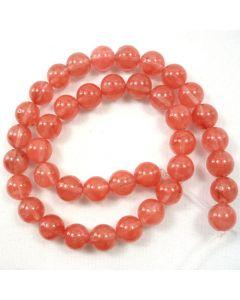 Cherry Quartz 10mm Round Beads