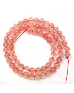 Cherry Quartz 6mm Round Beads