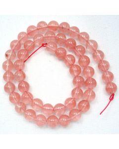 Cherry Quartz 8mm Round Beads