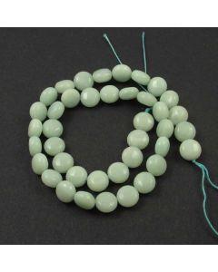 Chinese Amazonite 10mm Puffy Coin Beads