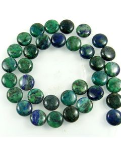 Chrysocolla 12mm Coin Beads