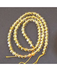 Citrine 4mm Round Beads
