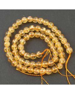 Citrine 6mm Round Beads