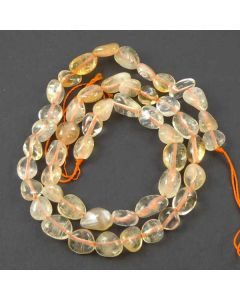 Natural Citrine 6x8mm (Approx) Nugget Beads