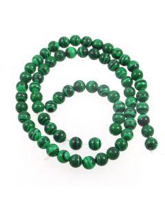 Malachite (Imitation) 6mm Round Beads