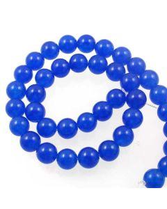 Jade (Cobalt Blue) Dyed 10mm Round Beads