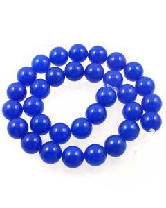 Jade (Cobalt Blue) Dyed 12mm Round Beads