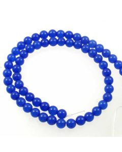 Jade (Cobalt Blue) Dyed 6mm Round Beads