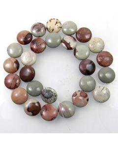 Coffee Bean Jasper 15mm Coin Beads