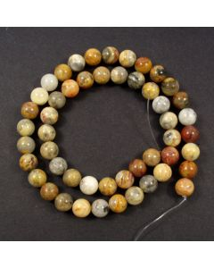 Crazy Lace Agate 8mm Round Beads