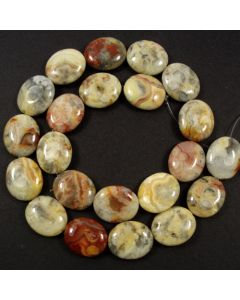 Crazy Lace Agate 15x18mm Oval Beads