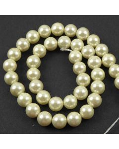 Cream Shell Pearls 10mm beads
