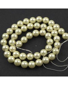 Shell Pearl  Cream 8-8.5mm Beads