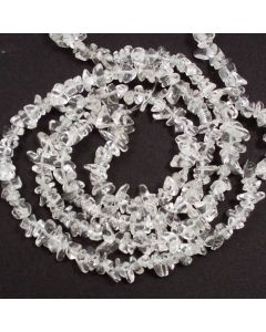 Rock Crystal 5x8mm Chip Beads