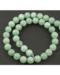 Malay Jade (Dyed mid Cyan Quartzite) 10mm Round Beads