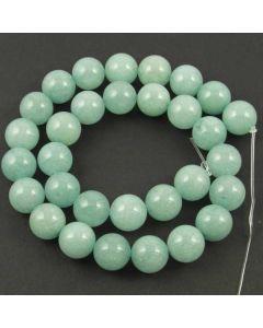 Malay Jade (Dyed Cyan Quartzite) 12mm Round Beads
