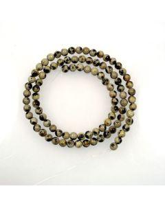 Dalmation Jasper 4mm Round Beads