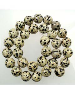 Dalmation Jasper 12mm Round Beads