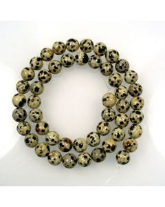 Dalmation Jasper 8mm Round Beads