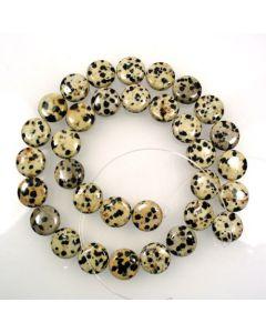Dalmation Jasper 12mm Coin Beads