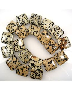Dalmation Jasper 20mm Square Beads