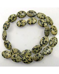Dalmation Jasper 13x18mm Oval Beads