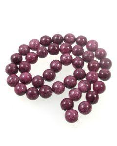 Mashan Jade (Dyed dark Purple Marble) 10mm Round Beads