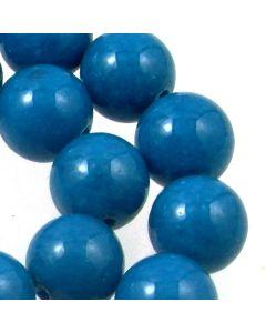 Mashan Jade (White) 12mm Round Beads