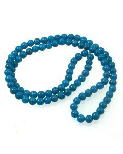 Mashan Jade (dyed Dark Turquoise) 4mm Round Beads
