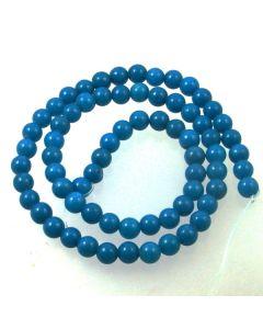 Mashan Jade (dyed Dark Turquoise) 6mm Round Beads