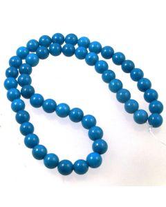 Mashan Jade (dyed Dark Turquoise) 8mm Round Beads