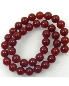 Malay Jade (Dyed Deep Red Quartzite) 10mm Round Beads