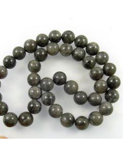 Mashan Jade (Dyed Dimgray) 10mm Round Beads