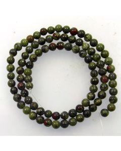 Dragon Vein Jasper 4mm Round Beads
