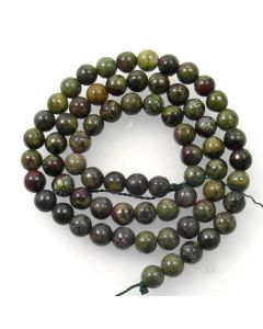 Dragon Vein Jasper 6mm Round Beads